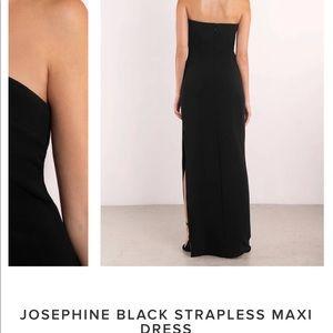 0b156785482 Tobi Dresses - Black Josephine strapless dress w  slit
